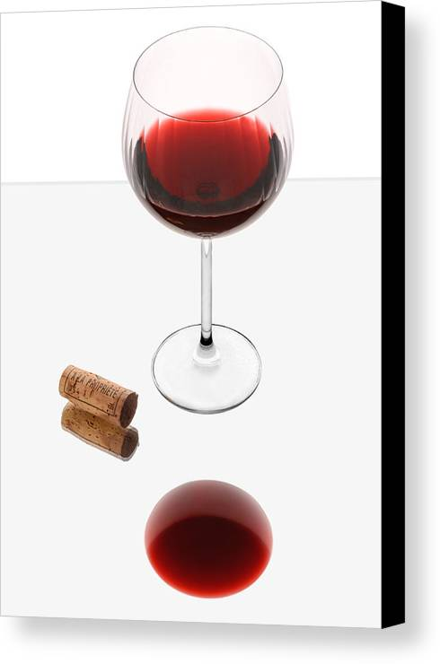 Red Canvas Print featuring the photograph Vampire Wine Glass by Dennis James