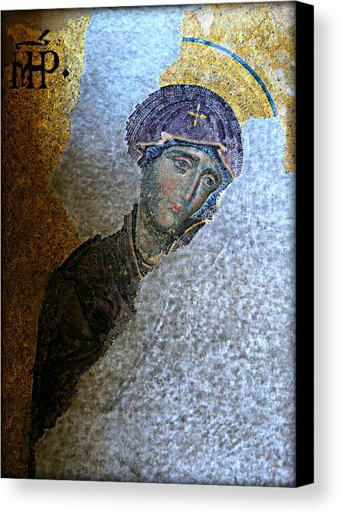 Hagia Canvas Print featuring the photograph Virgin Mary by Stephen Stookey