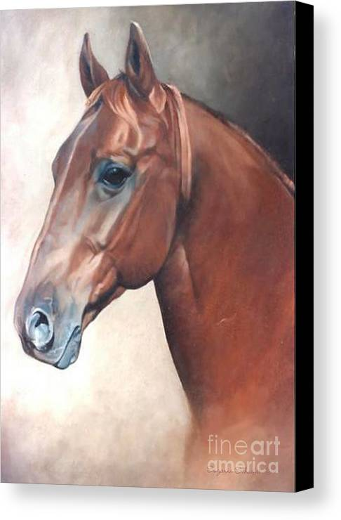 Horses Canvas Print featuring the painting Winddancer by Suzanne Schaefer