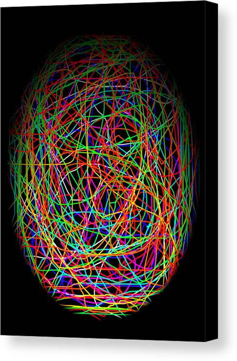 Abstract Canvas Print featuring the photograph World Web by Aidan Moran