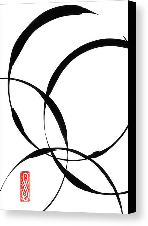 Zen Canvas Print featuring the painting Zen Circles 2 by Hakon Soreide