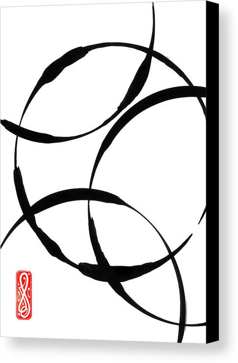 Zen Canvas Print featuring the painting Zen Circles by Hakon Soreide