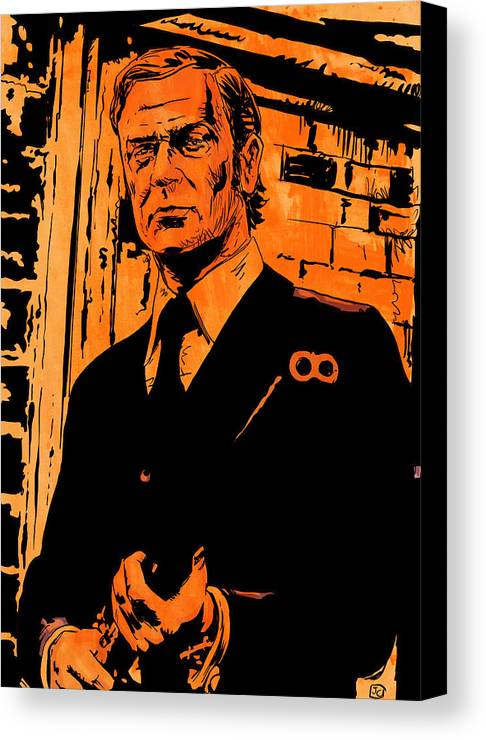 Michael Caine Canvas Print featuring the drawing Michael Caine by Giuseppe Cristiano
