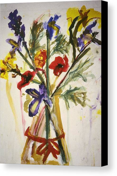 Fine Art Canvas Print featuring the painting Untitled by Iris Gill
