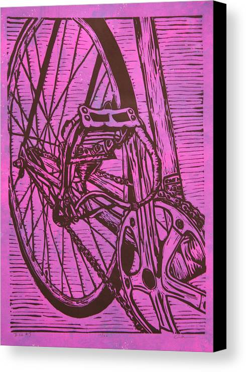 Bike Canvas Print featuring the drawing Bike 3 by William Cauthern