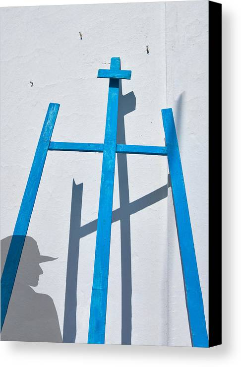 Photography Canvas Print featuring the photograph Artists Shadow by Salvator Barki