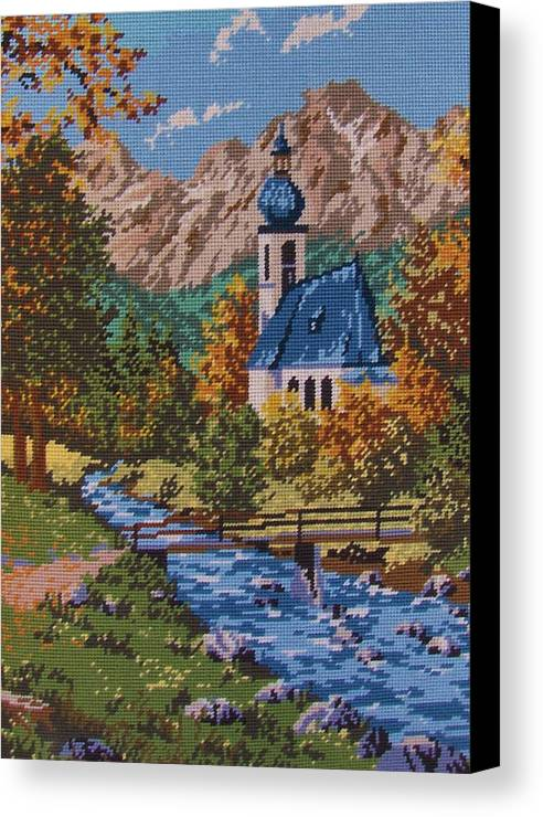 Bavarian Canvas Print featuring the tapestry - textile Bavarian Country by M and L Creations Craft Boutique