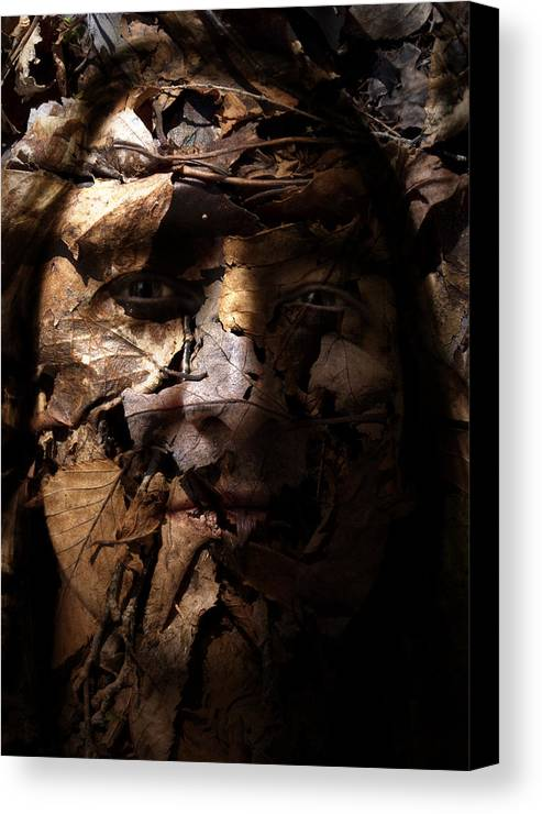 Blend Canvas Print featuring the painting Blending In by Christopher Gaston
