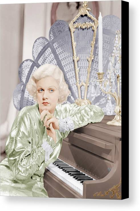 1930s Movies Canvas Print featuring the photograph Bombshell, Jean Harlow, 1933 by Everett