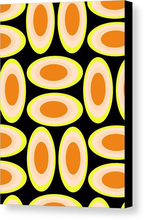 Louisa Canvas Print featuring the digital art Circles by Louisa Knight