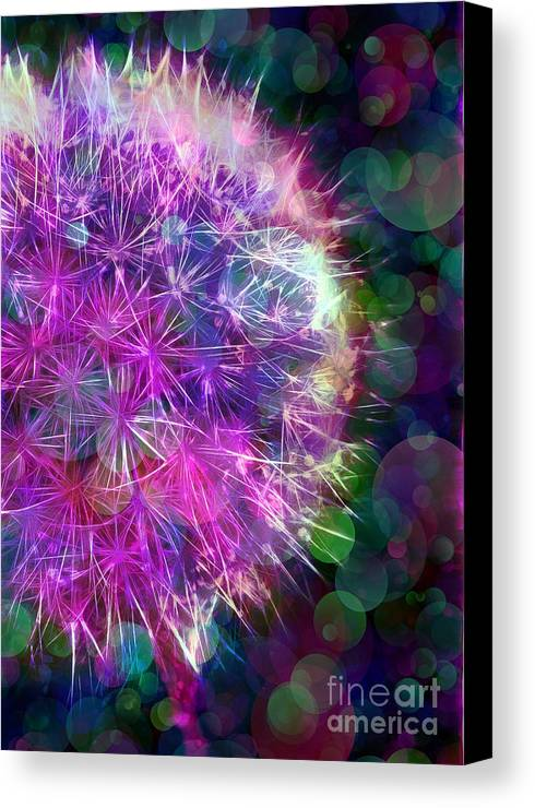 Dandelion Canvas Print featuring the photograph Dandelion Party by Judi Bagwell