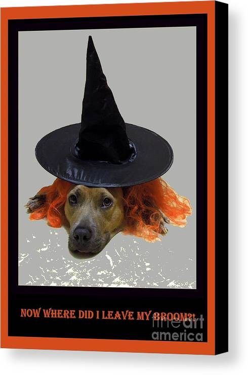 Halloween Canvas Print featuring the photograph Forgetful by Renee Trenholm