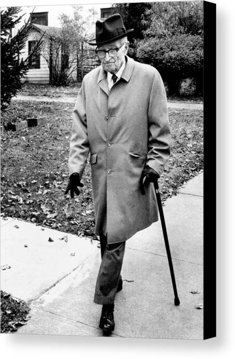 History Canvas Print featuring the photograph Former President Harry Truman Walks by Everett