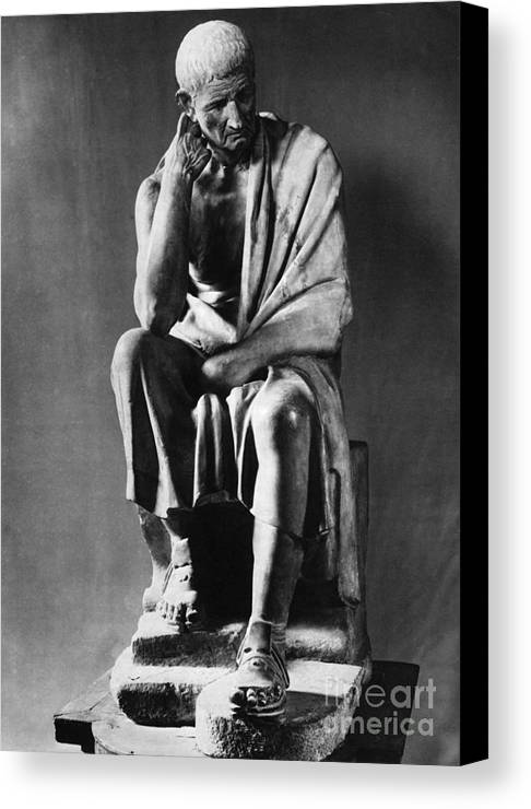 Greek Canvas Print featuring the photograph Greek Philosopher by Photo Researchers