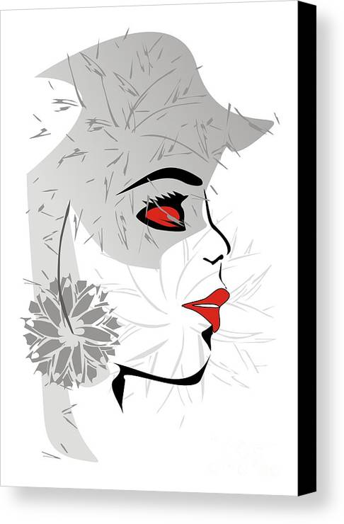 Graphics Canvas Print featuring the digital art Gv035 by Marek Lutek