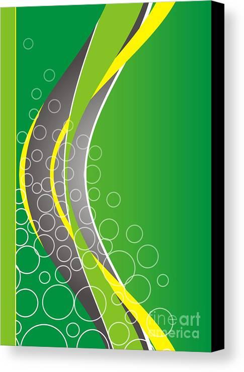 Graphics Canvas Print featuring the digital art Gv037 by Marek Lutek