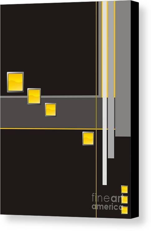 Graphics Canvas Print featuring the digital art Gv040 by Marek Lutek