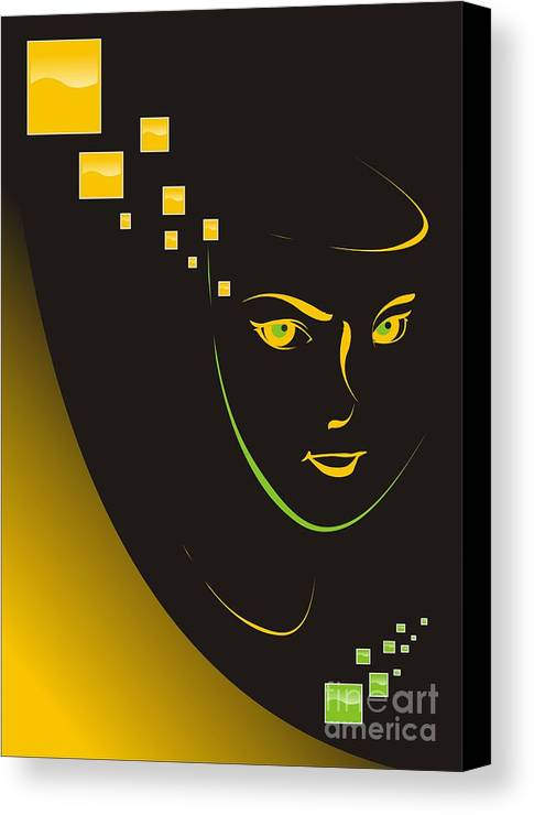 Graphics Canvas Print featuring the digital art Gv043 by Marek Lutek