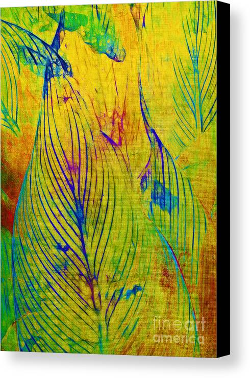 Jungle Canvas Print featuring the photograph Leaves In The Jungle by Judi Bagwell