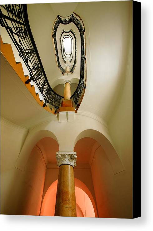 Staircase Canvas Print featuring the photograph Music Score by John Galbo