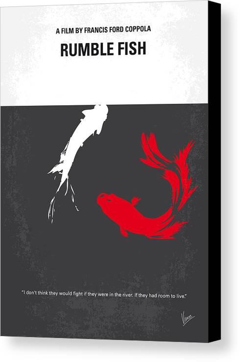 Rumble Canvas Print featuring the digital art No073 My Rumble Fish Minimal Movie Poster by Chungkong Art