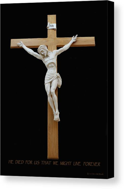 Jesus Canvas Print featuring the photograph Sjncc Crucifix 1 Two K Eleven by Carl Deaville