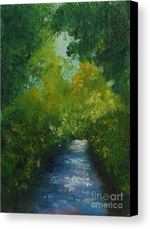 Landscape Canvas Print featuring the painting Summer Shadows by Fred Wilson