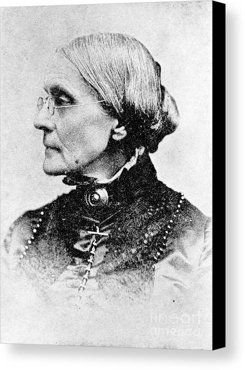 History Canvas Print featuring the photograph Susan B. Anthony, American Civil Rights by Photo Researchers, Inc.