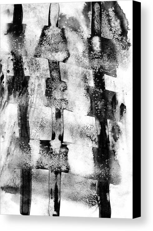 Indian Ink Canvas Print featuring the painting Trinity by Hakon Soreide