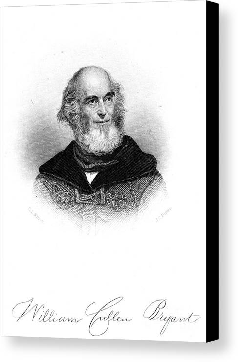 19th Century Canvas Print featuring the photograph William Cullen Bryant by Granger