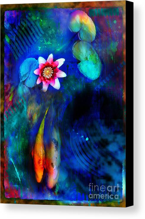 Koi Ponds Canvas Print featuring the photograph Lovers by Gina Signore
