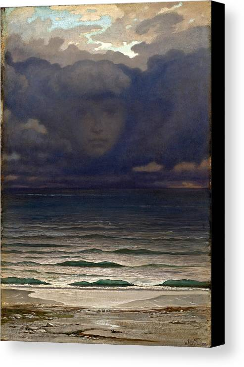 Elihu Vedder Canvas Print featuring the painting Memory by Elihu Vedder
