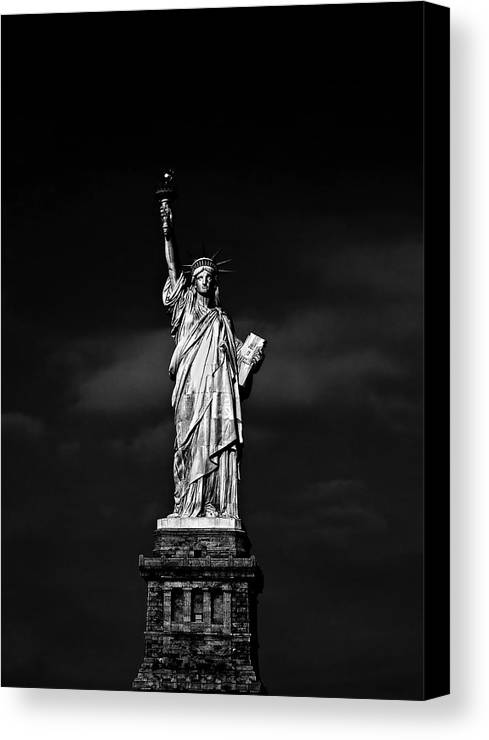 Ny Canvas Print featuring the photograph Nyc Miss Liberty by Nina Papiorek