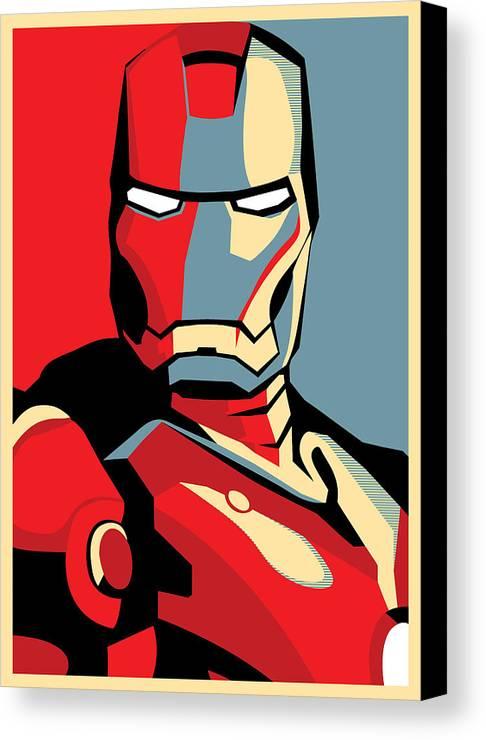 Iron Man Canvas Print featuring the digital art Iron Man by Caio Caldas