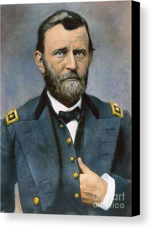 1864 Canvas Print featuring the photograph Ulysses S. Grant (1822-1885) by Granger