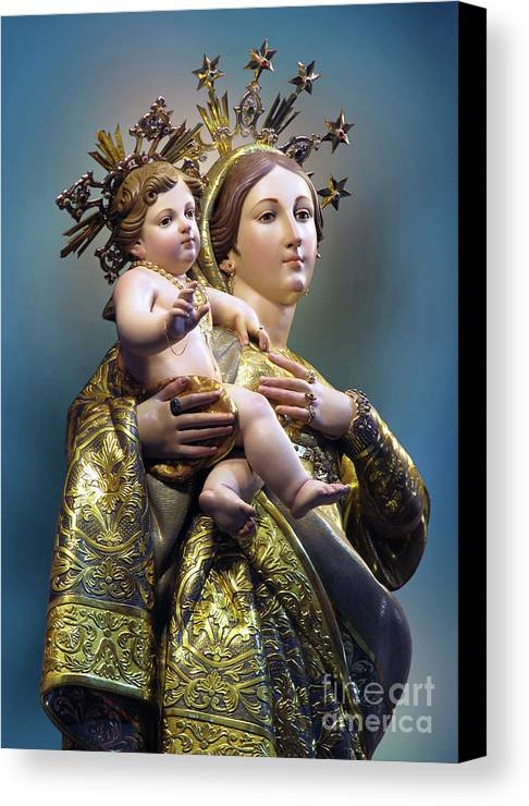 Our Lady Of Graces Canvas Print featuring the digital art Our Lady Of Graces by Richard Faenza