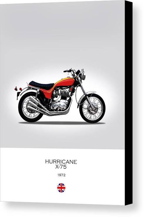 Triumph Hurricane Canvas Print featuring the photograph Triumph X-75 Hurricane by Mark Rogan