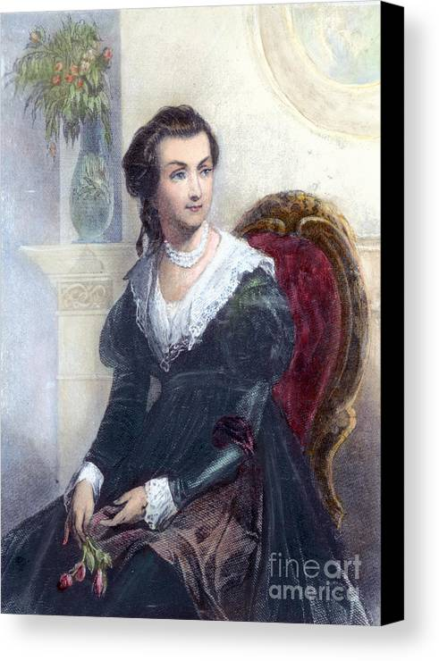 18th Century Canvas Print featuring the photograph Abigail Adams (1744-1818) by Granger