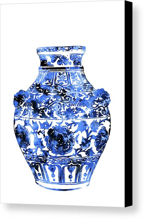 ming vase canvas print featuring the painting ming vase by rosalia s - Ming Vase