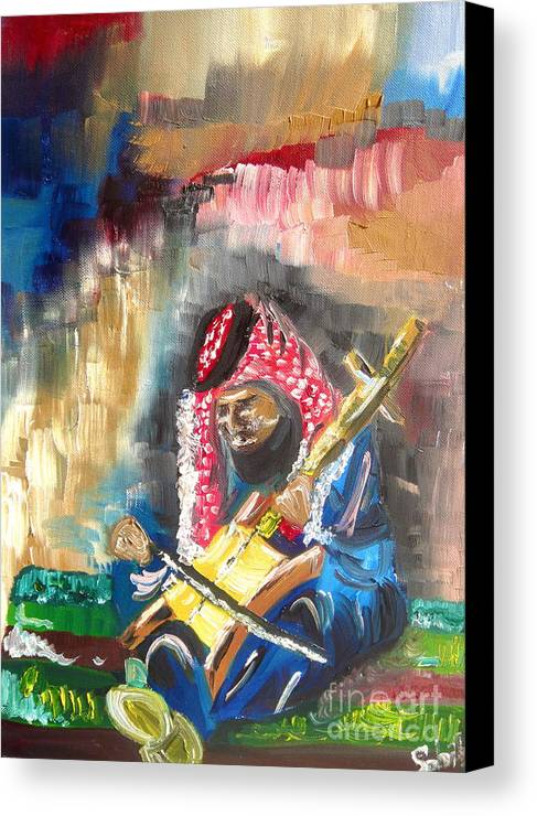 Bedouin Canvas Print featuring the painting A Bedouin Life by Sabrina Phillips