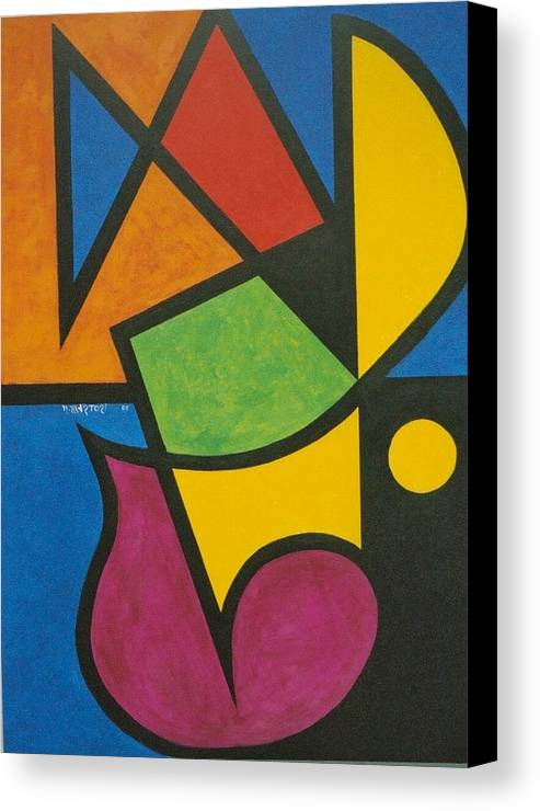Abstract Canvas Print featuring the painting A Question Of Balance by Nicholas Martori
