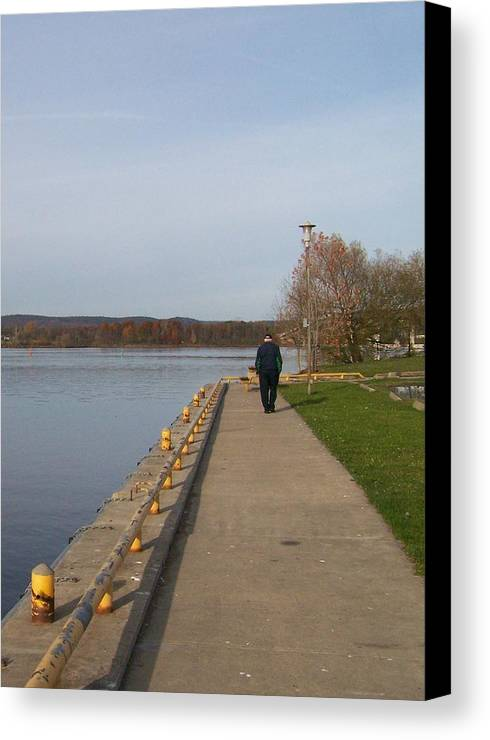 Canvas Print featuring the photograph A Walk On The Wild Side - Photograph by Jackie Mueller-Jones