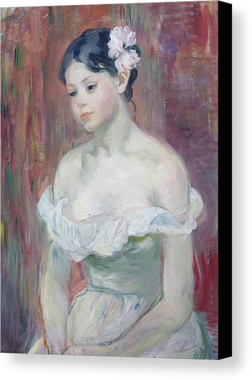 Young Canvas Print featuring the painting A Young Girl by Berthe Morisot
