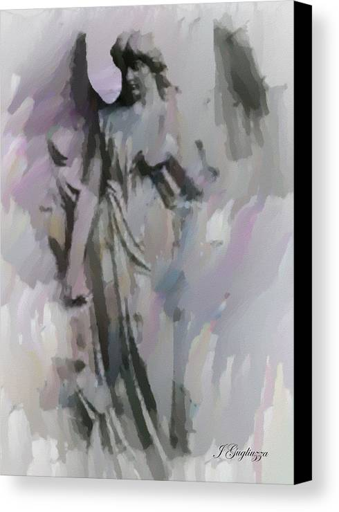 Angel Canvas Print featuring the digital art Angelic Presence by Jean Gugliuzza