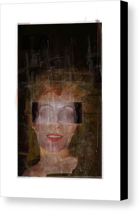 Portrait Canvas Print featuring the digital art Ann Hos by Nuff