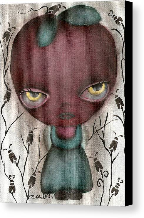 Apple Canvas Print featuring the painting Apple Lady by Abril Andrade Griffith