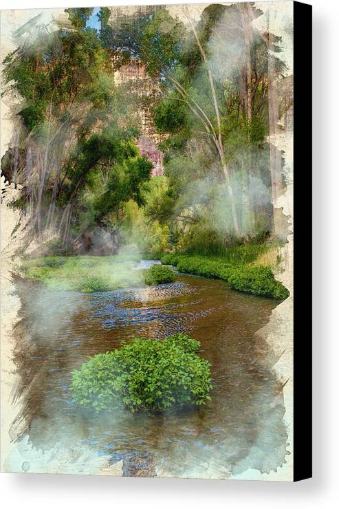 Decoration Canvas Print featuring the digital art Aravaipa Creek by Don Kuing