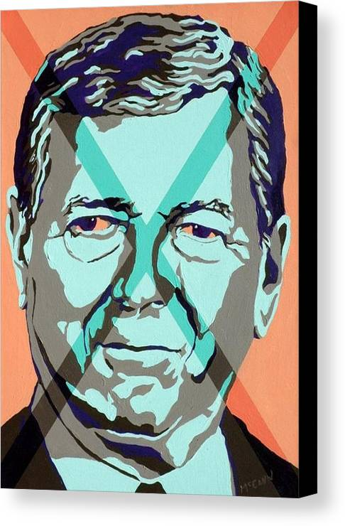 Politics Canvas Print featuring the painting Ashcroft by Dennis McCann