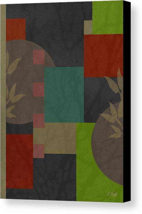 Contemporary Abstract Design Asian Gordon Beck Art Canvas Print featuring the painting At Peace by Gordon Beck