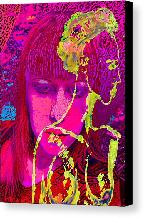 Human Composition Canvas Print featuring the painting Behind Reality by Noredin Morgan